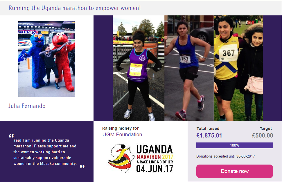 The UGM Runners' Blog: Setting Up Your Online Fundraising Page