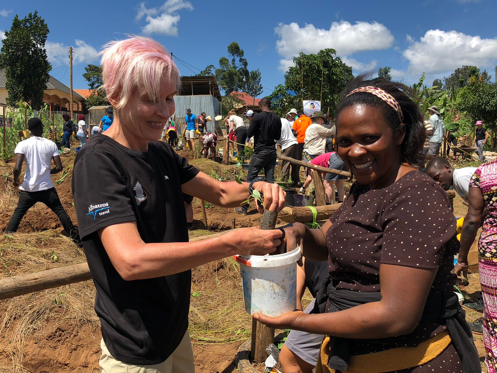 Getting stuck in and making a difference in Uganda with the Uganda Marathon